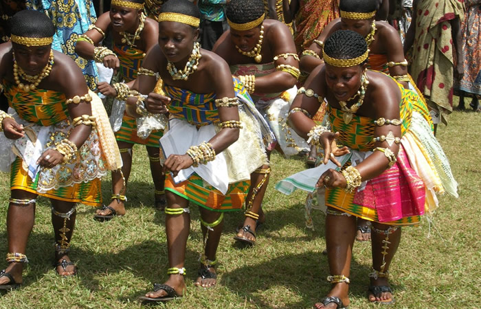 The Adowa dance of the Ashanti Kingdom