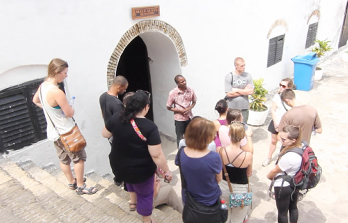 Tour Guide Explaining the mysteries of Elmina Castle