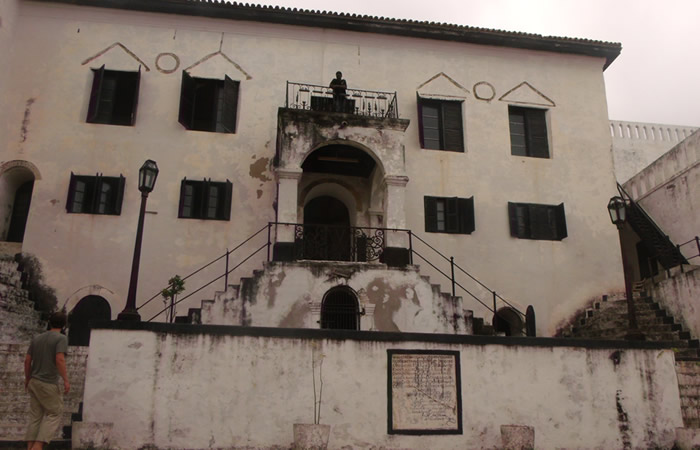 Front view of the Elmina Castle